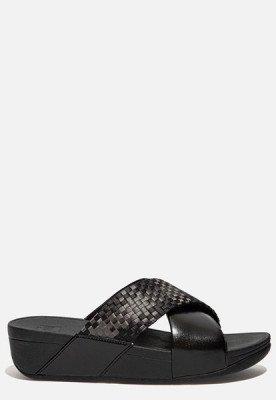 FitFlop FitFlop Lulu Silky Weave slippers zwart