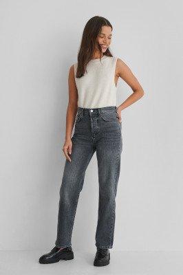 Mango MANGO Cropped Jeans - Grey