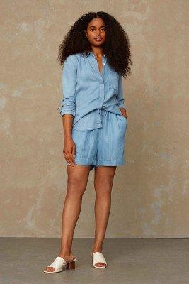 Kings of indigo Kings of Indigo - GRACE shorts Female - Light Blue