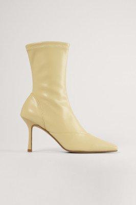 NA-KD Shoes NA-KD Shoes Puntige Laarzen - Beige