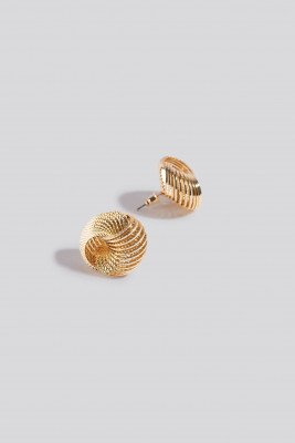 NA-KD Accessories Round Spiral Earrings - Gold