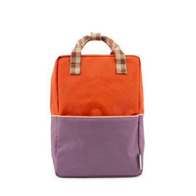 Sticky Lemon Sticky Lemon Large Backpack Colourblocking Orange Juice + Plum Purple + Schoolbus Brown