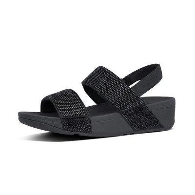 FitFlop FitFlop Mina Crystal Back-Strap sandalen zwart