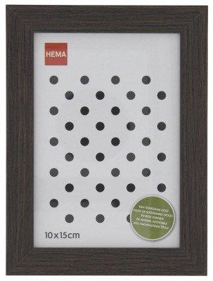 HEMA HEMA Fotolijst Hout 10x15 Donkerbruin