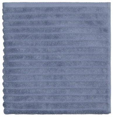 HEMA HEMA Handdoek Katoen Ribbel Blauwgrijs (blauw)