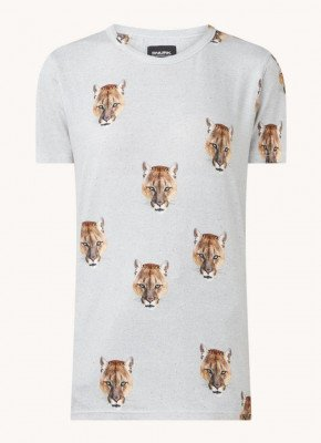 Snurk Snurk Puma pyjama T-shirt met dierenprint