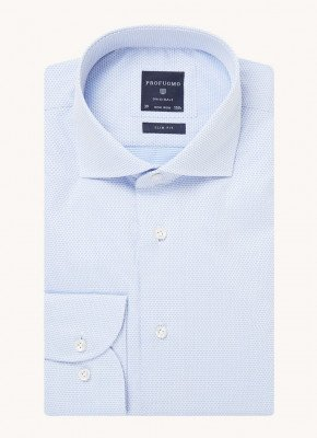Profuomo Profuomo Slim fit overhemd met extra lange mouw