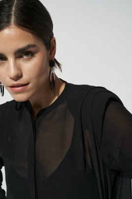 nu-in 100% Recycled Chiffon Padded Shirt