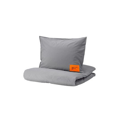 Off-White Off-White x IKEA Duvet Cover and 1 Pillowcase Markerad (Full/Queen) Virgil Abloh Grey (2019)