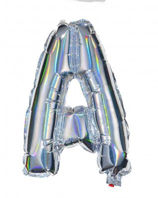HEMA Folieballon Letters A-Z Holografisch Zilver (zilver)