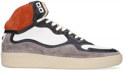 Floris van Bommel Oranje Floris Van Bommel Hoge Sneaker 20371