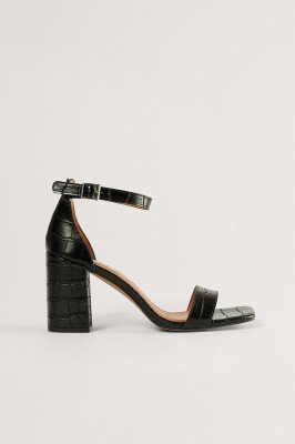 NA-KD Shoes NA-KD Shoes Blokhaksandalen - Black