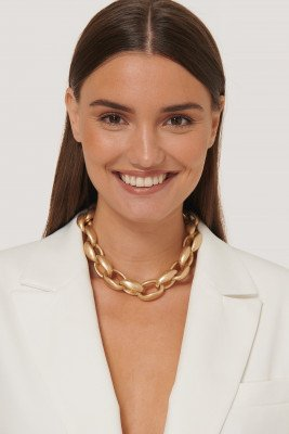 NA-KD Accessories Oversize Dikke Chain Ketting - Gold