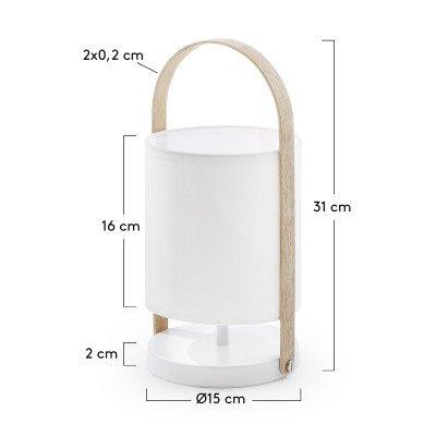 Kave Home Kave Home Tafellamp 'Zayma' kleur wit
