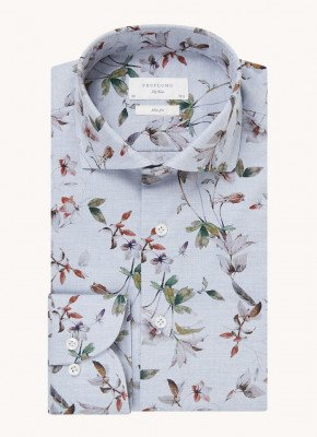 Profuomo Profuomo Slim fit overhemd met print en extra lange mouw