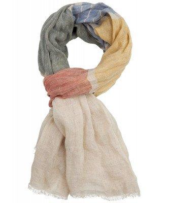 Profuomo Profuomo heren olijf roestkleurige linnen sjaal