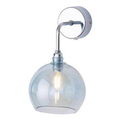 Ebb en Flow EBB & FLOW Rowan wandlamp zilver kap topaasblauw