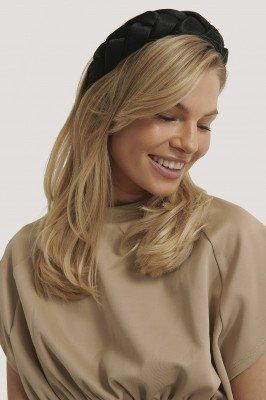 NA-KD Accessories Grote Gevlochten Haarband - Black