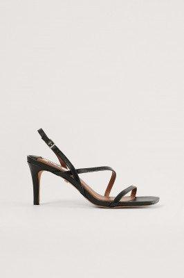 NA-KD Shoes NA-KD Shoes Stiletto's Van Leer Met Banden - Black