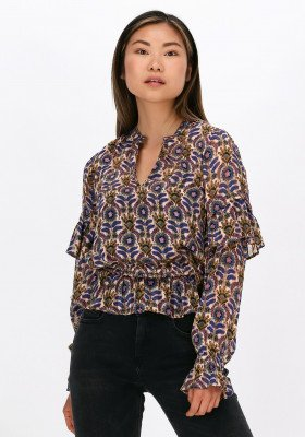 Scotch en Soda Paarse Scotch & Soda Blouse Printed Recycled Polyester Top