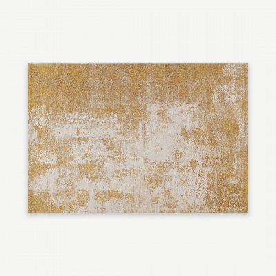 MADE.COM Genna vloerkleed, 200 x 300cm, goud