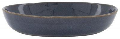 HEMA Schaal Hoog - 30 Cm - Porto - Reactief Glazuur - Donkerblauw (donkerblauw)