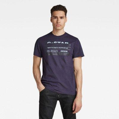 G-Star RAW Originals Stripe Logo T-Shirt - Donkerblauw - Heren