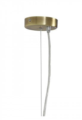 Light & Living Light & Living Hanglamp 'Xamo' 30cm, brons+glas