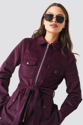 NA-KD Trend NA-KD Trend Tie Waist Corduroy Blazer - Purple