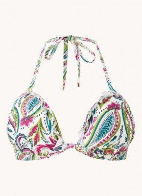 Cyell Cyell Push-up triangel bikinitop met print