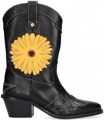 Fabienne Chapot Zwarte Fabienne Chapot Enkellaarsjes Jolly SunSet Flower Boot