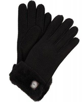 UGG UGG Turn Cuff Zwart Dames Handschoenen