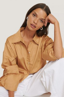 NA-KD Classic NA-KD Classic Gerecycleerd Oversized Shirt - Orange