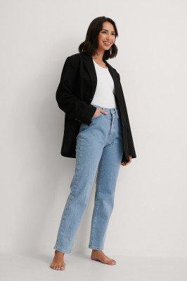NA-KD Trend NA-KD Trend Organisch Rechte High Waist Jeans - Blue