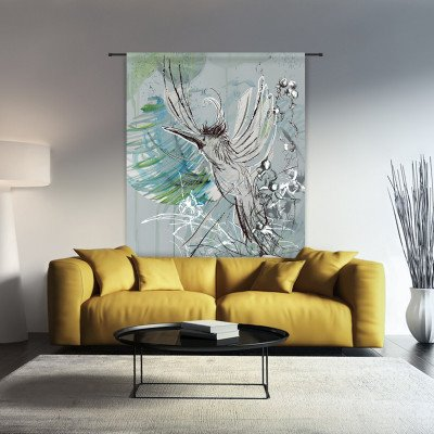 Urban Cotton Urban Cotton Wandkleed 'Free Flight', 190 x 145cm