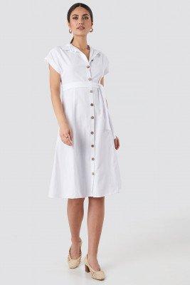 Trendyol Binding Detailed Shirt Dress - White