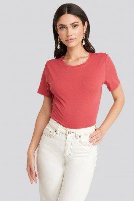 NA-KD Basic Basic T-Shirt - Red