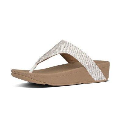 FitFlop FitFlop Lottie Glitter Stripe slippers wit