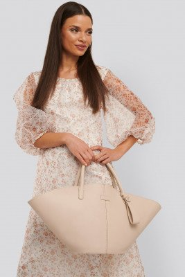 NA-KD Accessories Trapeze Shopper - Offwhite