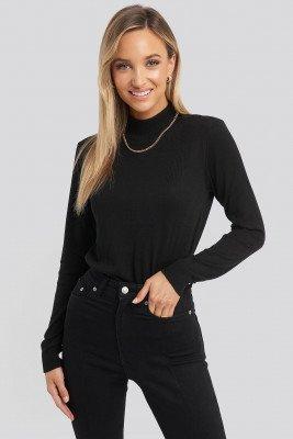 Trendyol Turtleneck Knitted Top - Black