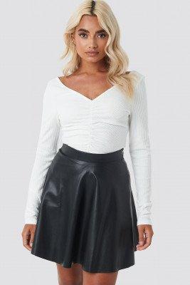 NA-KD NA-KD Faux Leather Mini Skirt - Black