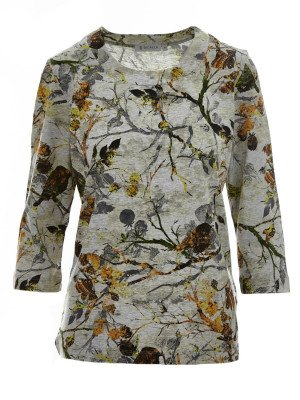 Bicalla Bicalla Shirt Shirt Grey Flowers 20518