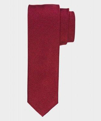 Michaelis Michaelis heren smalle zijden stropdas bordeaux