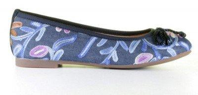 Si Si Fridrique Blauw/Multicolor Damesloafers