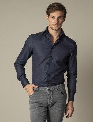 Cavallaro Napoli Cavallaro Napoli Heren Overhemd - Nosto Navy Overhemd - Donkerblauw