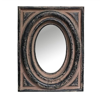 Firawonen.nl PTMD Bubble Black poly rectangle mirror S