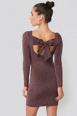 Trendyol Trendyol Mini Backless Dress - Purple,Copper