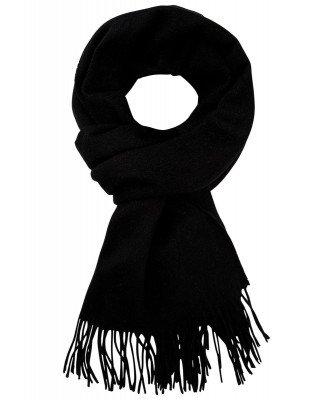 Profuomo Profuomo heren zwart wollen sjaal