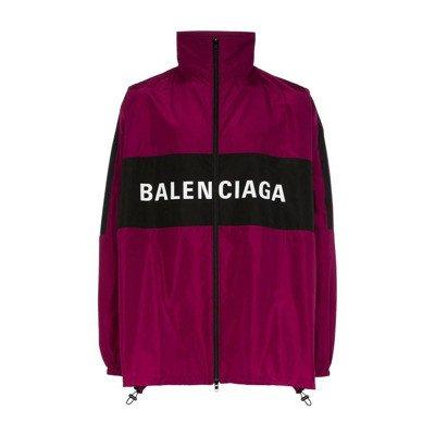 Balenciaga Trainingsjack met tweekleurig logo