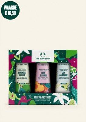 The Body Shop NL Feels & Festivity Hand Cream Trio 1 Stuk